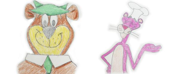dibujos a lápiz coloreados
