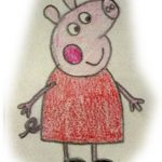 peppa pig a color