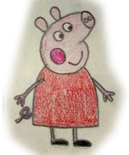 peppa pig a color