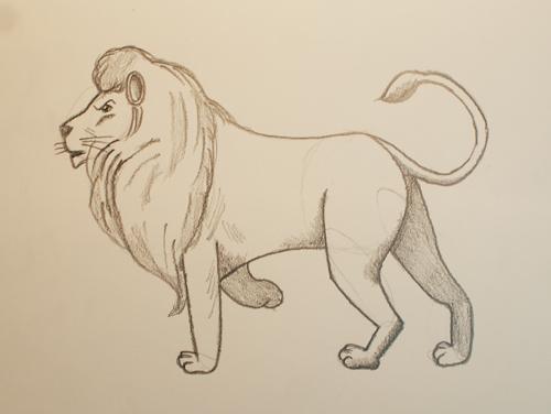 aprender a dibujar un león