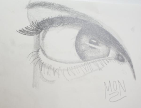 tutorial de cómo dibujar un ojo
