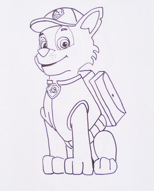 Dibujos para pintar - La Patrulla Canina - Dibujos para niños