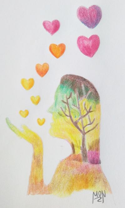 colorear las imágenes de amor