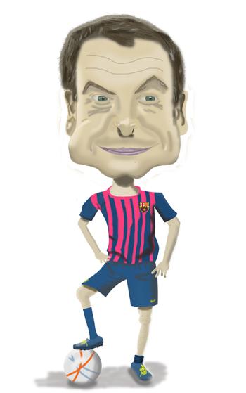 caricatura digital de Zapatero