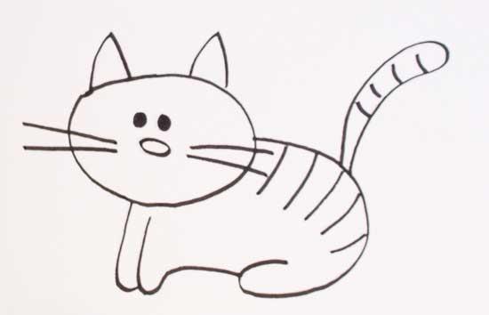 Dibujos de gatos  Cmo dibujar gatos fcil para colorear