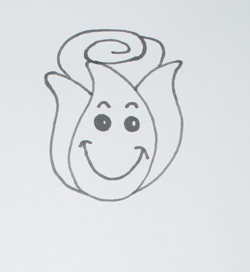 C mo dibujar una rosa rosas para dibujar a l piz for Comedor facil de dibujar