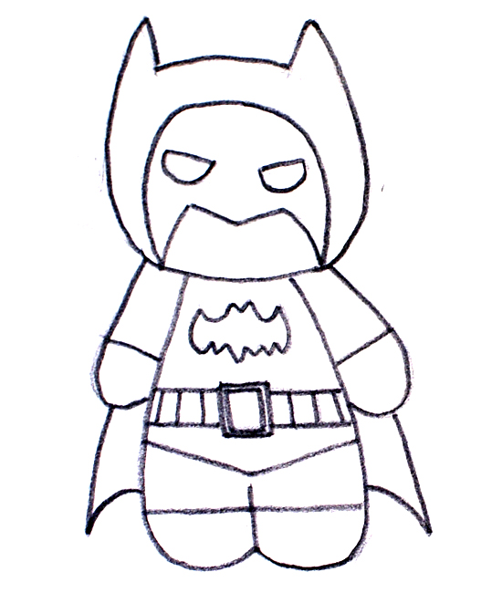 dibujo a lápiz de batman cartoon