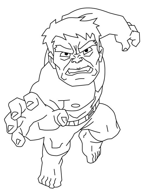 dibujo sencillo de hulk