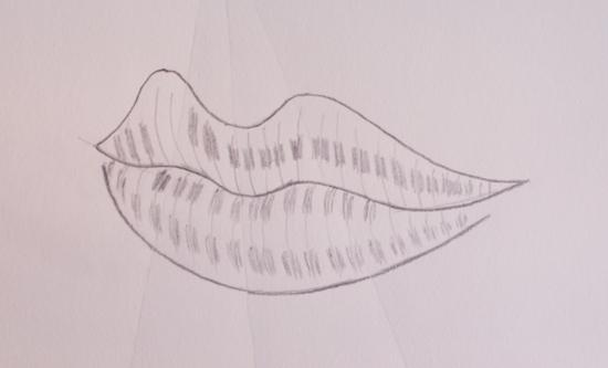 colorear los labios