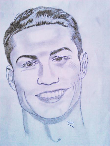 retrato de Cristiano Ronaldo