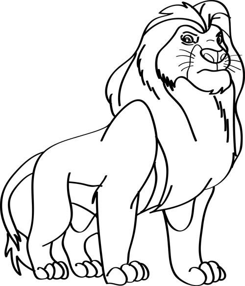 dibujo de el rey leon