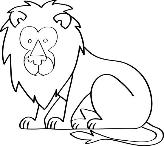 dibujo de leon para niños