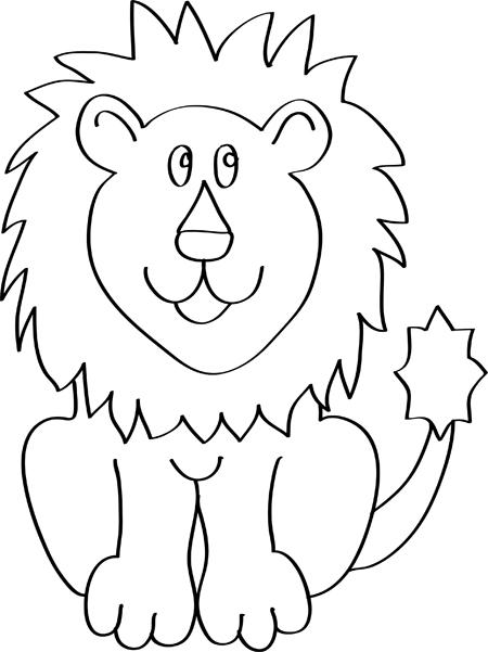dibujos de leon para niños de preescolar