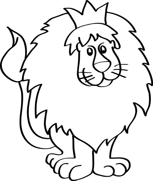 dibujos de leones faciles