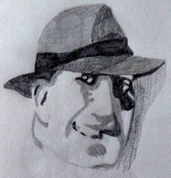 caricatura carlos gardel