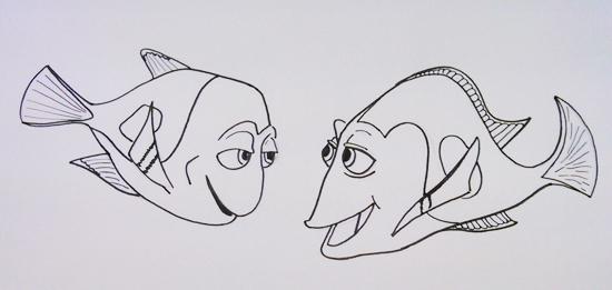 Colorear Nemo Para Marlin Dory Y Colorear Nemo Imprimir Parczewinfo