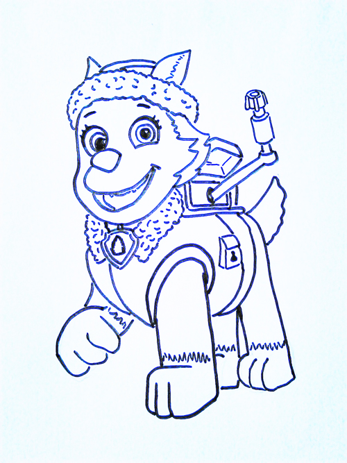 dibujos parapintar de la patrulla canina