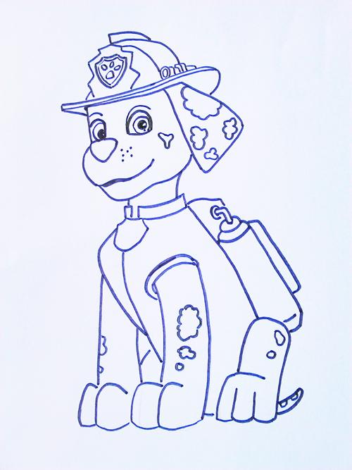 dibujo para colorear marshall