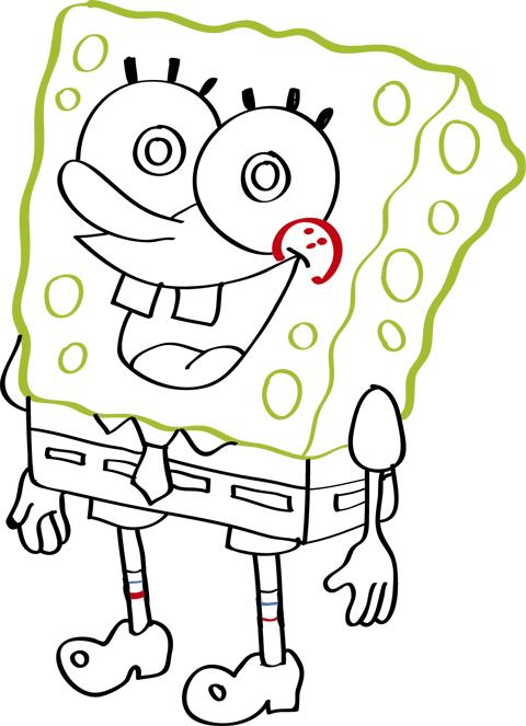 como hacer dibujos de bob esponja