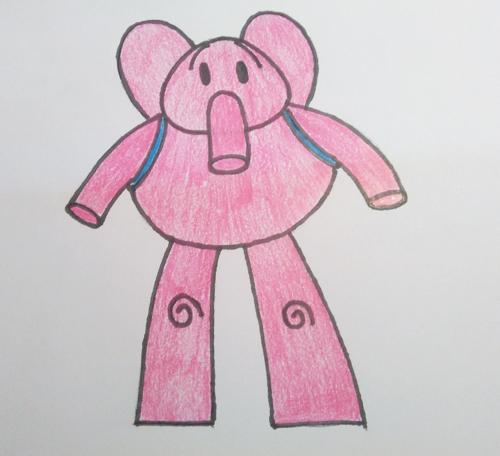 coloreando los dibujos