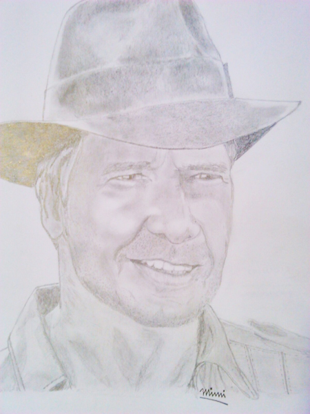 retrato del famoso indiana jones