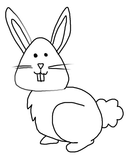 Dibujo De Conejo Cómo Dibujar Un Conejo Animales Para Dibujar