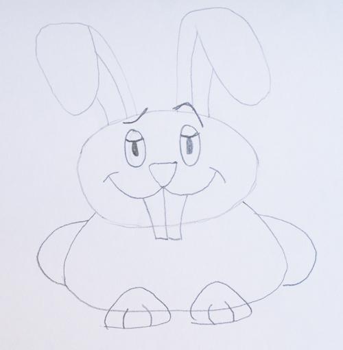 pintar el conejo luego de dibujarlo