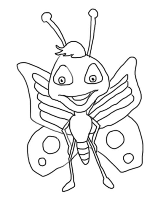 mariposas lindas de dibujo