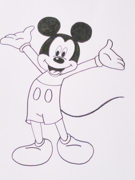 dibujo para pintar de mickey