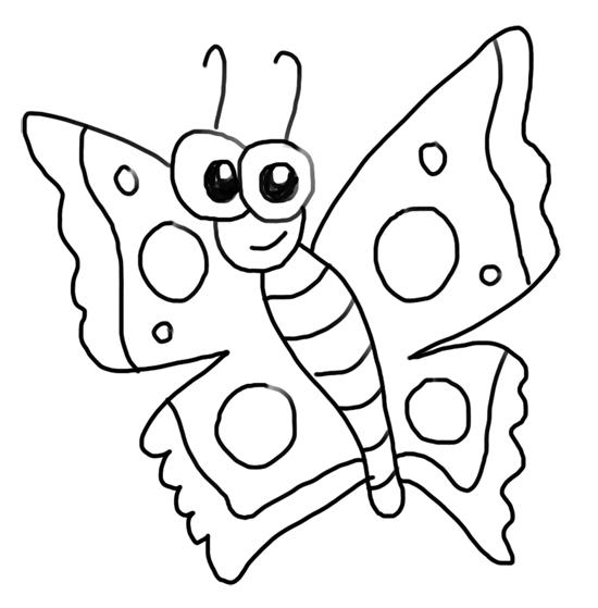 mariposa ojos grandes