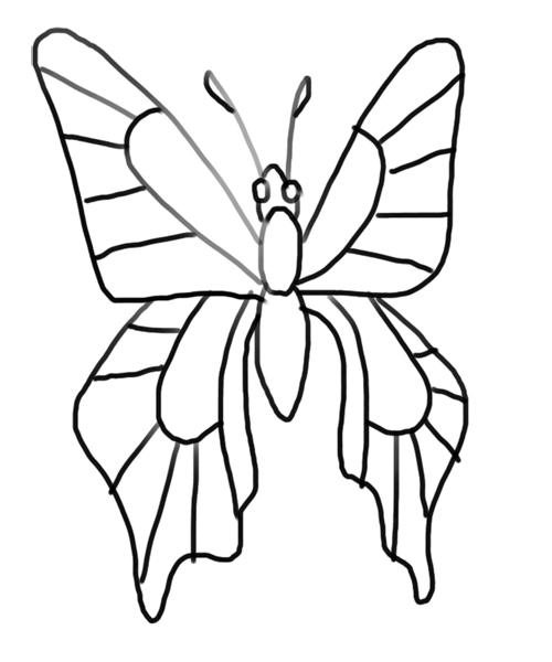 colorear la mariposa