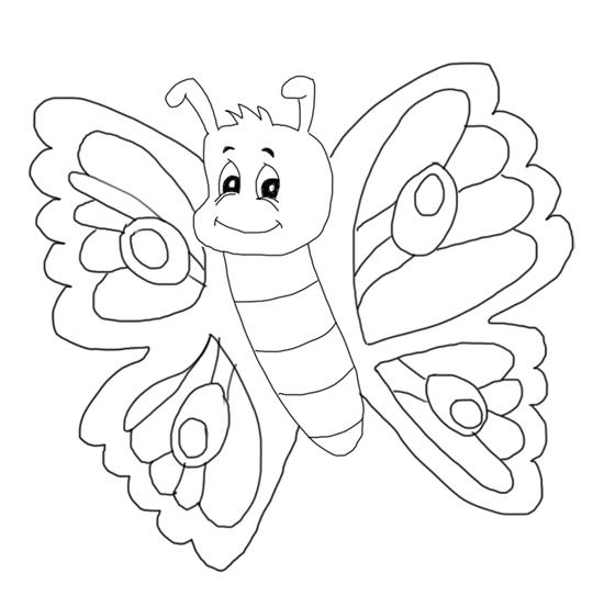 pinta y colorea mariposas