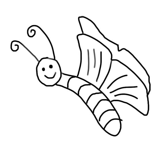las mariposas para pintar