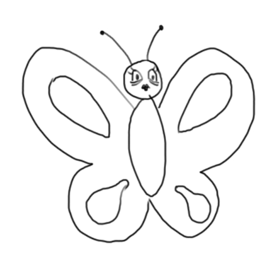 dibujando mariposas