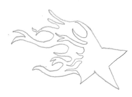 dibujos de estrellas para tatuajes