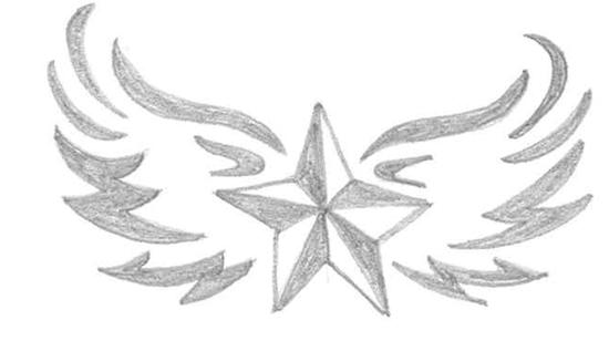 estrella con alas