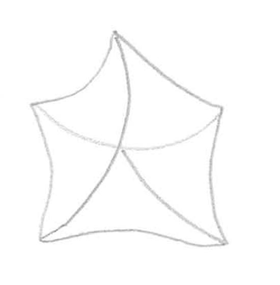 dibujo extraño de estrella