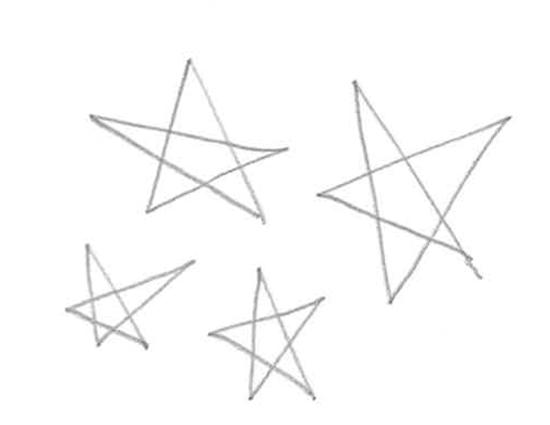 rayones de estrellas