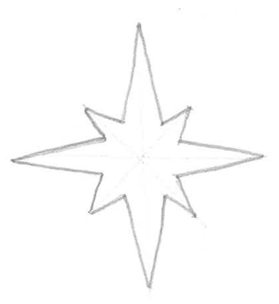 dibujo de estrella de navidad