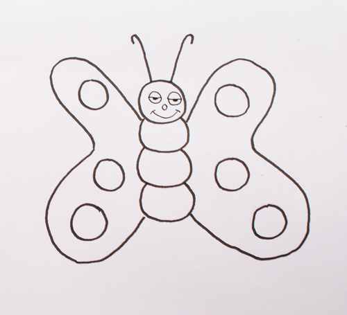 dibujar mariposa