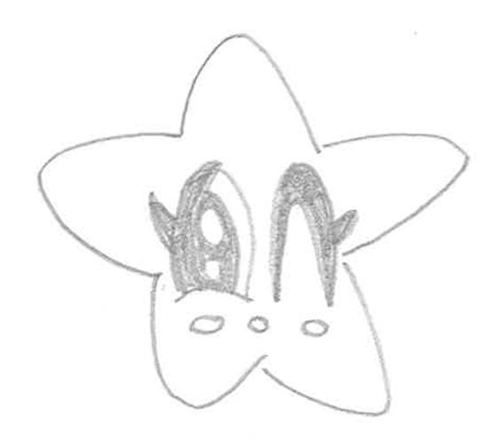 estrella dibujo a lapiz