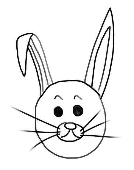 conejo de pascua dibujo