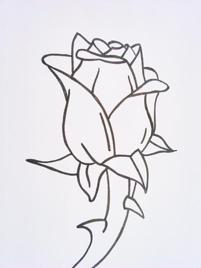 dibujos de rosas fáciles