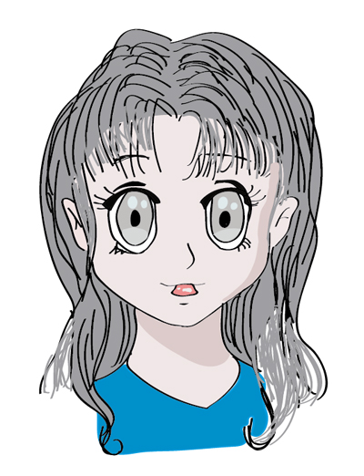 dibujo digital de anime