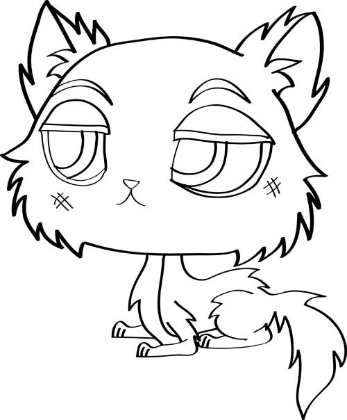 Dibujos De Gatos Cómo Dibujar Gatos Fácil Para Colorear