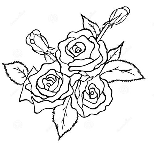 dibujos de rosas a lapiz faciles