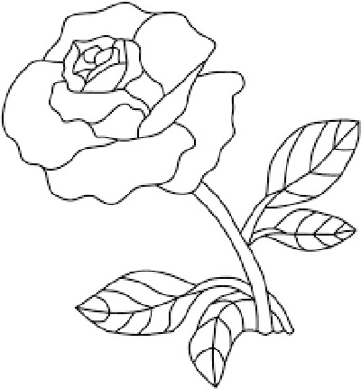 dibujos de rosas rojas para pintar