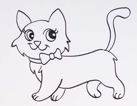 Dibujos de gatos - Cómo dibujar gatos fácil para colorear