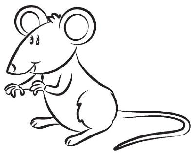 dibujos de ratones para niños