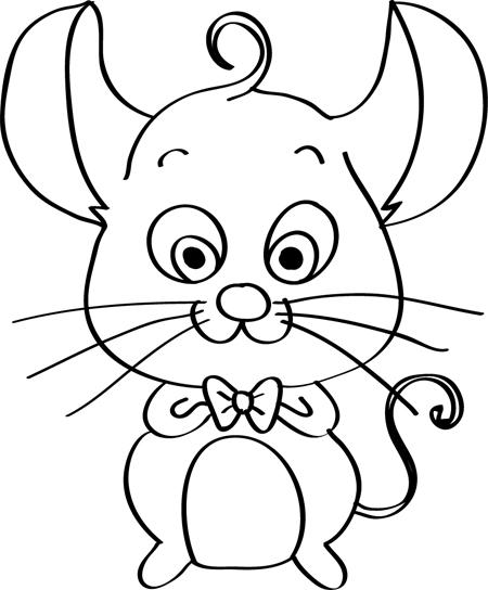 dibujo simpatico de ratones